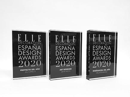Premios en metacrilato incoloro realizados con impresión digital