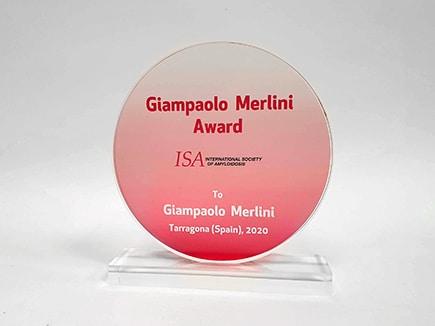 Award ISA 2020 en metacrilato con impresión digital