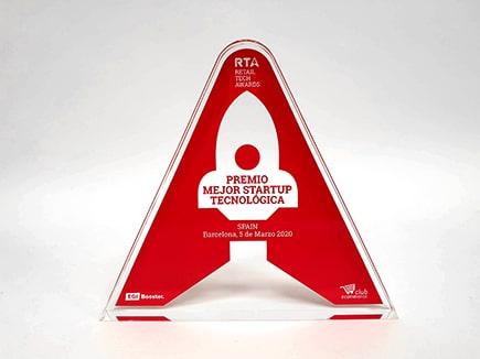 Trofeo metacrilato personalizado con impresión digital directa