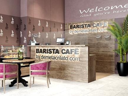 Mampara de metacrilato en cafetería