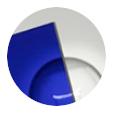 Azul marino transparente