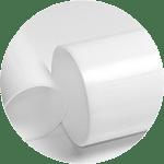 Tubos de metacrilato blanco opal